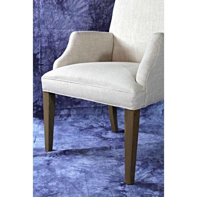 Modern Upholstered Armchairs - A Pair For Sale In New York - Image 6 of 11