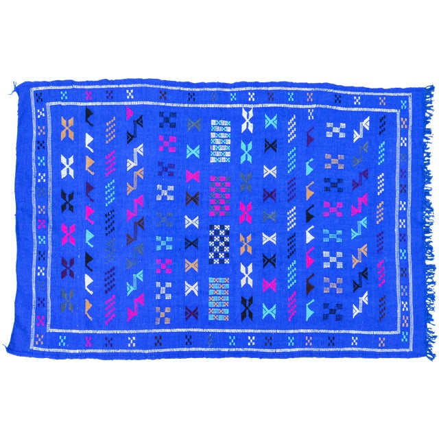 Moroccan Rug- 3'3'' X 4'10'' For Sale