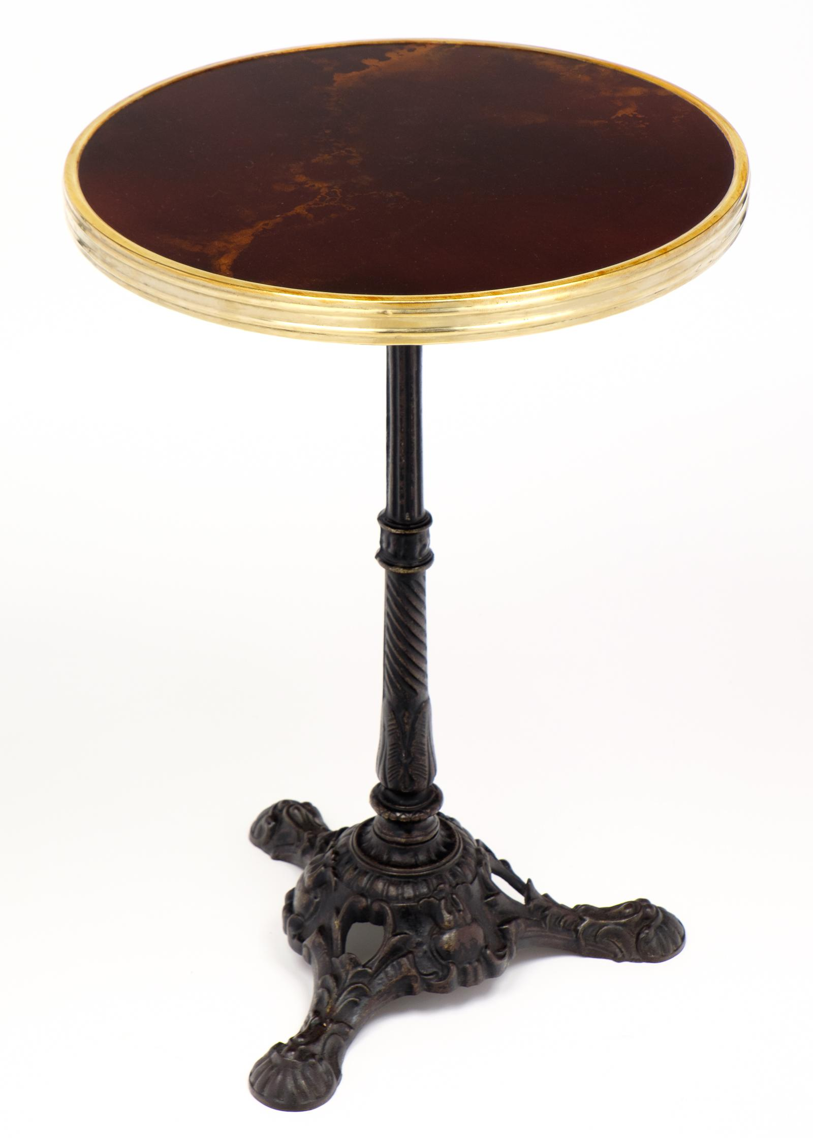 Marvelous French Parisian Antique Bistro Table   Image 4 Of 11