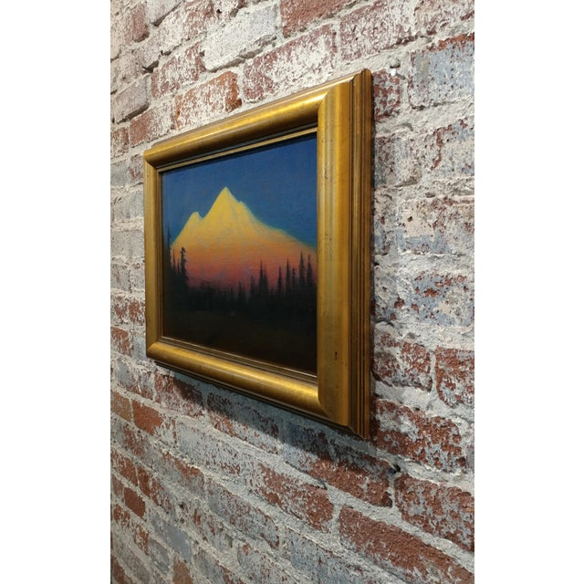 Yellow James Everett Stuart- Sunset Glow at Mt Shasta -Beautiful Oil Painting 1921 For Sale - Image 8 of 10