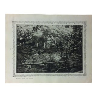 """1906 """"Waterlily House - Kew Gardens"""" Famous View of London Print For Sale"""