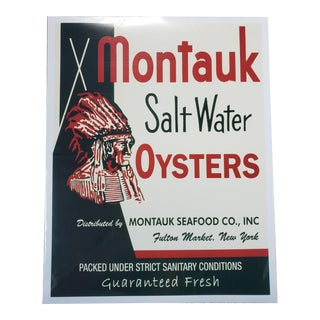 Montauk New York Oyster Advertisement For Sale