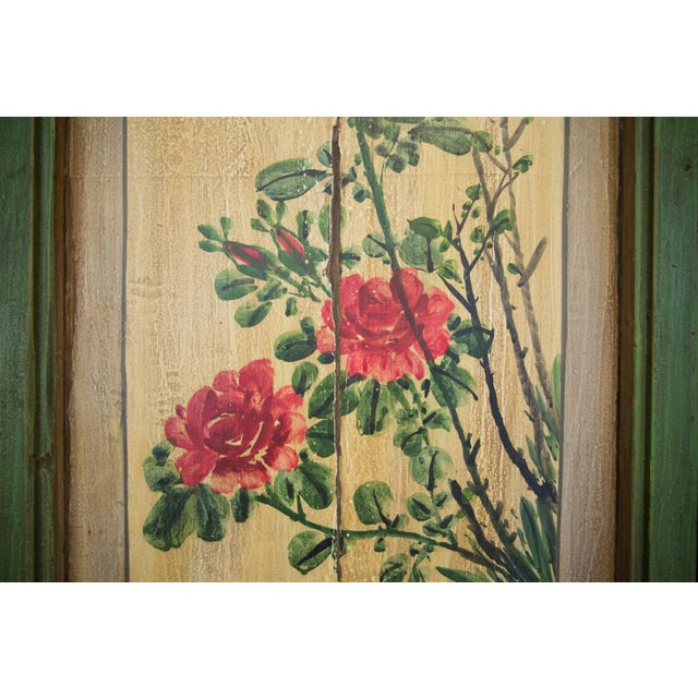Chinese Painted Door Panels - 4 Pieces For Sale - Image 10 of 13