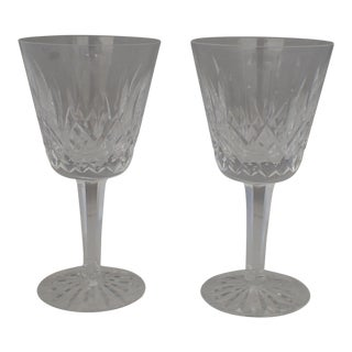 "Waterford Crystal ""Lismore"" Wine Glasses - A Pair"