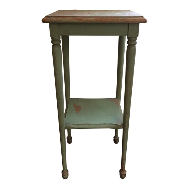 Tremendous 1920S Shabby Chic Green Painted Side Table Home Interior And Landscaping Palasignezvosmurscom