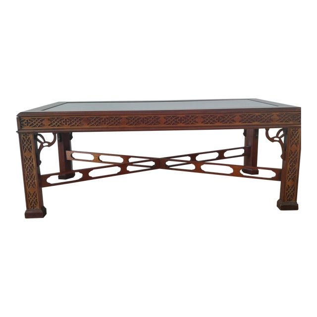 Thomasville Blind Fretwork Coffee Table