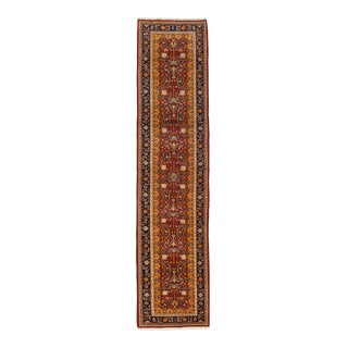 One-Of-A-Kind Persian Hand-Knotted Area Rug, Tuscan, 2' 10 X 12' 9 For Sale
