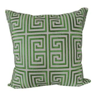 Trina Turk Trellis Green and White Decorative Pillow