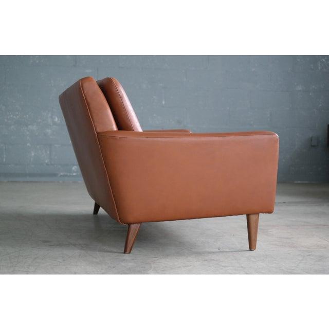 Danish Mid-Century Sofa In Cognac Leather - Image 4 of 10