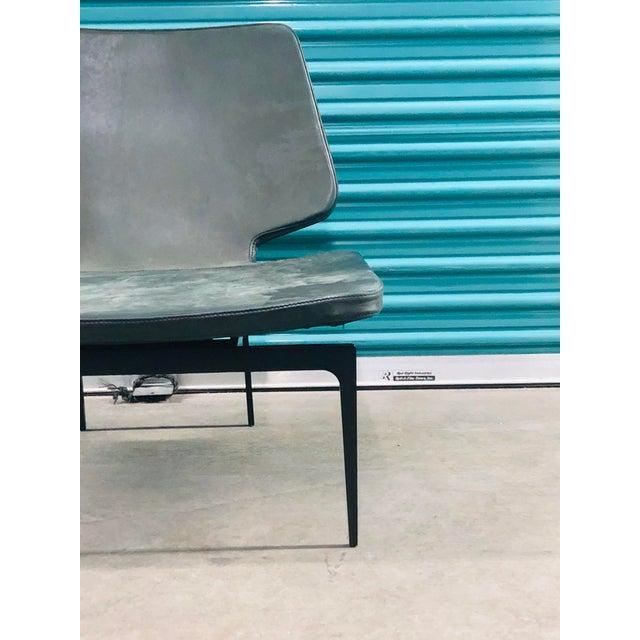 Modern Roberto Lazzeroni of Lema Italian Leather Lounge Chair For Sale - Image 4 of 7