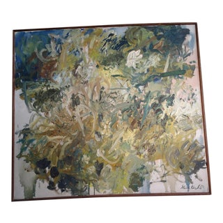 """Late 20th Century """"Wind Laced"""" Abstract Oil Painting by Gerd Koch, Framed For Sale"""