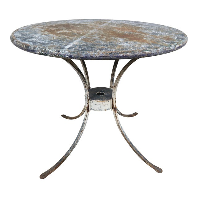 Painted Metal Garden Table For Sale