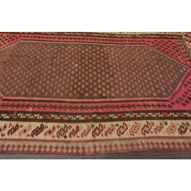 "Apadana - Vintage Persian Kilim Rug, 5'8"" x 9'2"" For Sale In New York - Image 6 of 6"