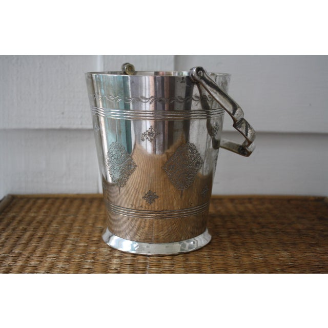 Brass Moorish Style Silver Ice Bucket For Sale - Image 7 of 11