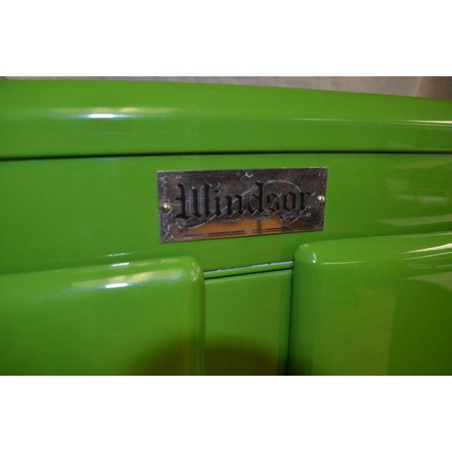 Aluminum Green Ice Box Refrigerator Bar by Windsor, circa 1920s For Sale - Image 7 of 10