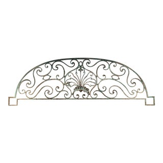 """18th C. French Wrought Iron Over Door 74"""" For Sale"""