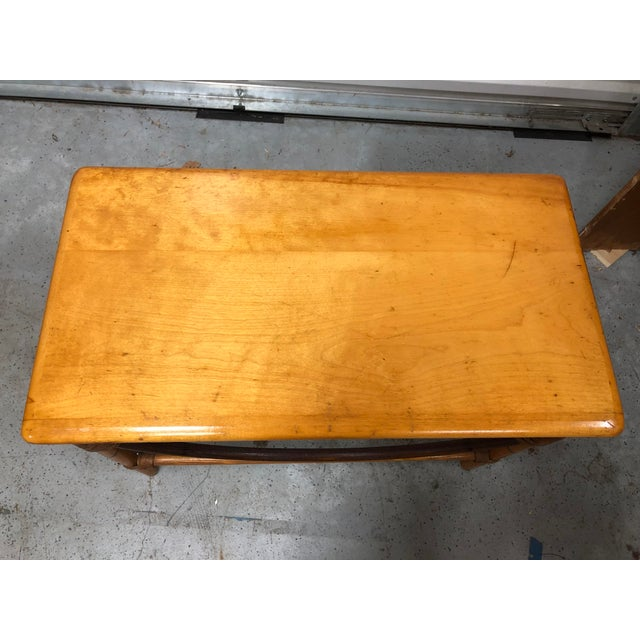 1940s Heywood-Wakefield Ashcraft Side Table 111a For Sale - Image 5 of 9