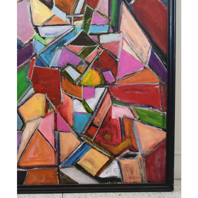 Abstract Juan Pepe Guzman Colorful Abstract Oil Painting For Sale - Image 3 of 9