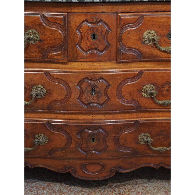 Louis XV Period and Signed Walnut Commode For Sale In New Orleans - Image 6 of 9
