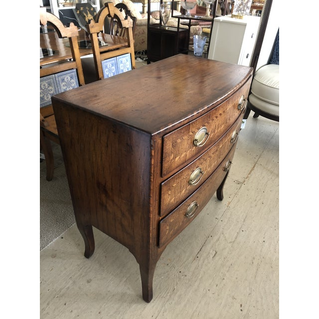 Traditional Burled Walnut Chest of Drawers With Beautiful Inlay For Sale - Image 3 of 10