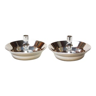 Jens Quistgaard for Dansk Silver-Plated Candle Holders - A Pair