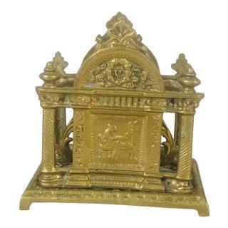 Brass Architectural Designed Letter Holder For Sale