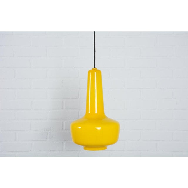 Jacob E. Bang Vintage Mid-Century Yellow 'Kreta' Pendant Lamp - Image 5 of 5