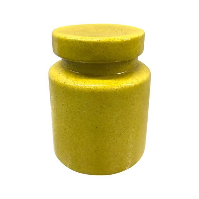 Yellow Mid-Century Italian Bitossi Lidded Jar For Sale - Image 8 of 8