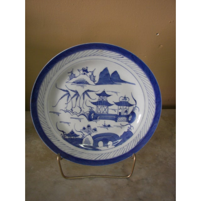 Old Canton Porcelain Plate - Image 2 of 3