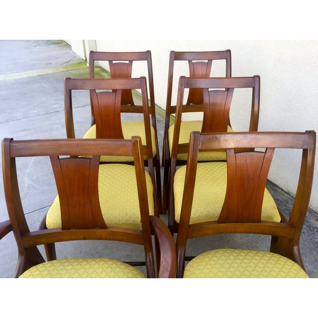 Mid Century Mod Curved Tailback Dining Chairs - 6 - Image 8 of 11