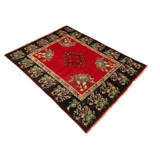 Late 20th Century Vintage Flat Woven Kilim Rug- 8′ × 10′6″ For Sale