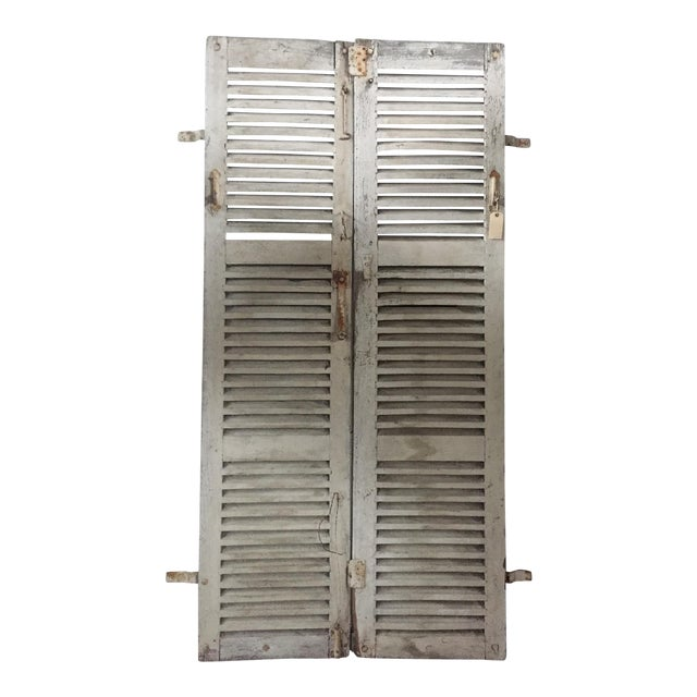Antique French Shutters - a Pair For Sale