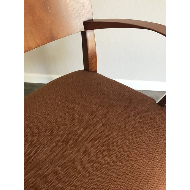 Orange Knoll Crinion Cherrywood Ribbon-Band Arm Side Chairs - Set of 4 For Sale - Image 8 of 11