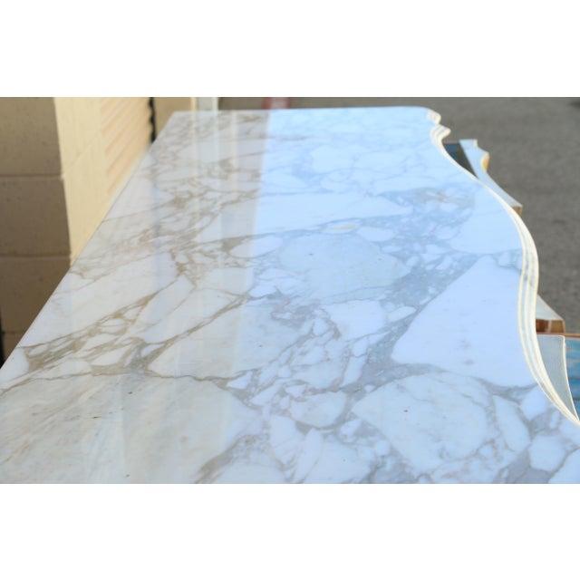 John Widdicomb Dresser w/ Carrara Marble Top For Sale - Image 5 of 10