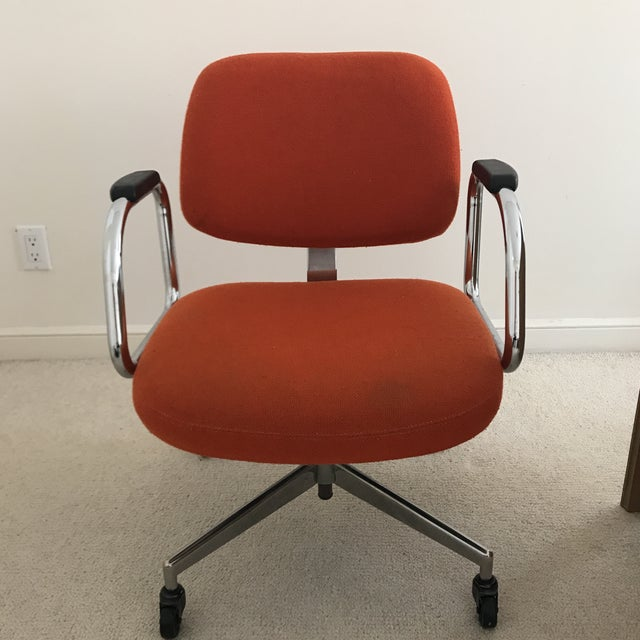 Mid-Century Modern Red Office Chair by Harter Furniture Company - Image 2 of 5