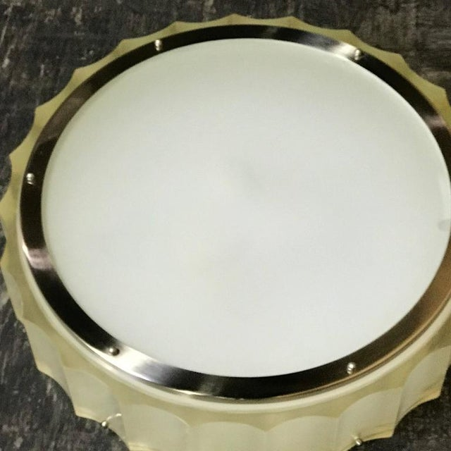 1970s Large-Scale Lucite and Glass Flush Mount by Sirmos For Sale - Image 5 of 10