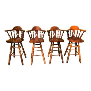 Virginia House Swivel Bar Height Chairs- Set of 4 For Sale