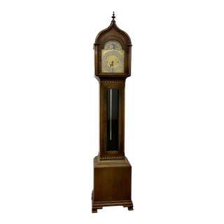 Early 20th Century Winterhalder & Hofmeier Case Clock W/ Moon Face For Sale