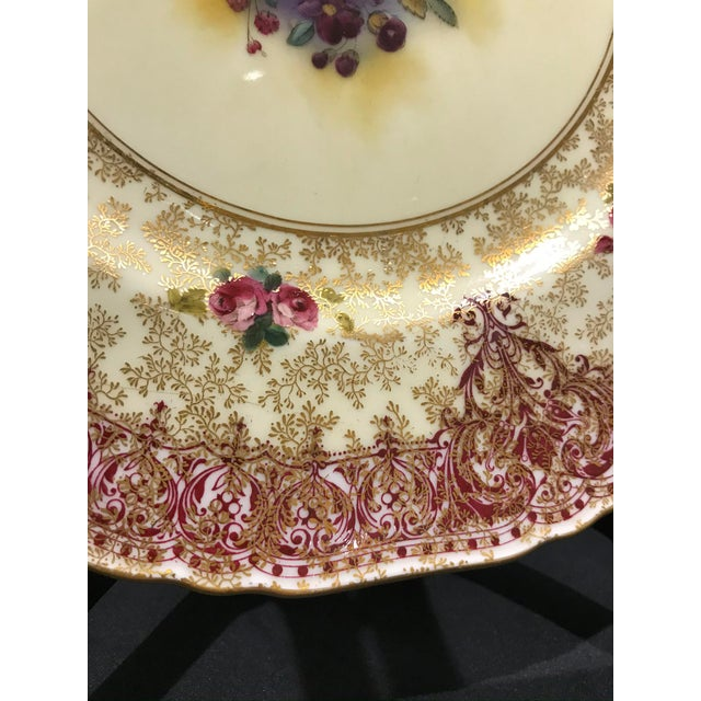 Royal Worcester Early 19th Century Royal Worcester Dinner Plates - Set of 12 For Sale - Image 4 of 7