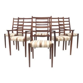 Vintage Modern Rosewood Dining Chairs by Svegards Markaryd For Sale