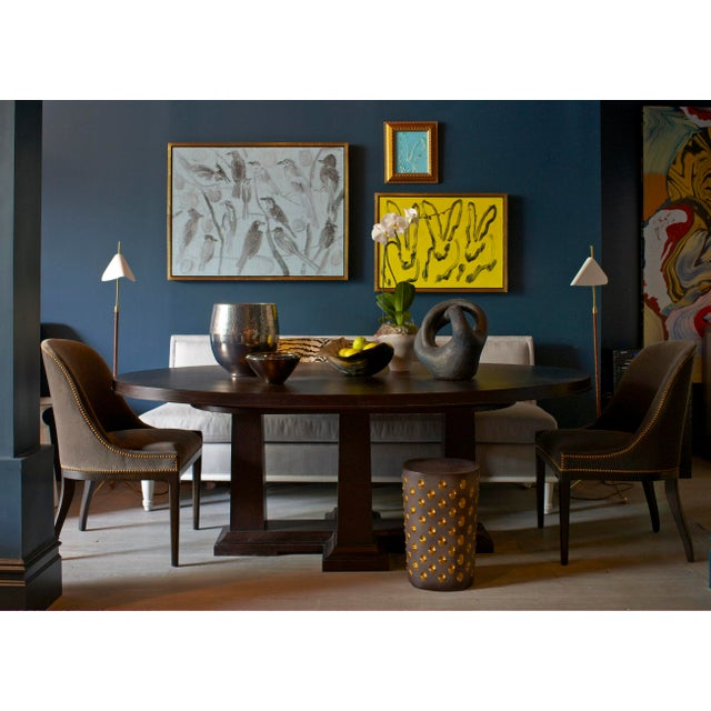 KLASP Home Fully Upholstered Klismos Chair For Sale - Image 4 of 5