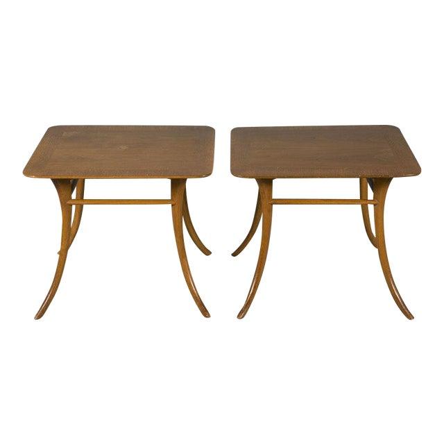 Pair of Sabre Leg Lamp Tables by T.H. Robsjohn-Gibbings For Sale