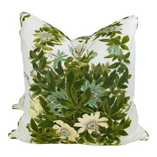 """Michael S. Smith """"Malmaison"""" in Fontaine 22"""" Pillows-A Pair For Sale"""