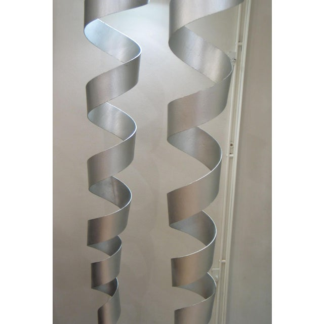 Modern Spiral Floor Lamps - a Pair For Sale - Image 3 of 5
