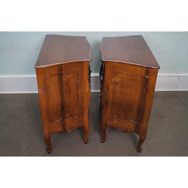 Vintage Carved Italian Bombe Chests - Pair For Sale - Image 9 of 10