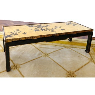 Vintage Mid Century Japanese Gold Leaf Cherry Blossom Coffee Table Preview