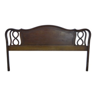 French Carved King Size Headboard by Dixie 1564 For Sale