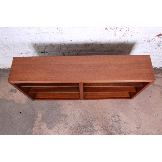 1950s Edward Wormley for Dunbar Mahogany Double Bookcase For Sale - Image 5 of 11