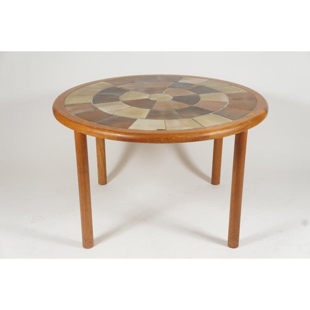Tue Poulsen Designed Ceramic Tile Dining/ Dinette Teak Table by Haslev For Sale - Image 10 of 10