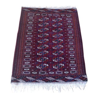 Antique 1920's Turkmen Tekke Rug - 3′ × 3′9″